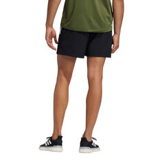 adidas Mens Studio Tech Shorts White XL, White, rebel_hi-res