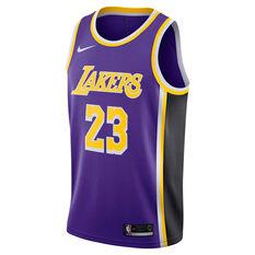 Los Angeles Lakers LeBron James 2019 Mens Alternate Swingman Jersey Yellow S, Yellow, rebel_hi-res