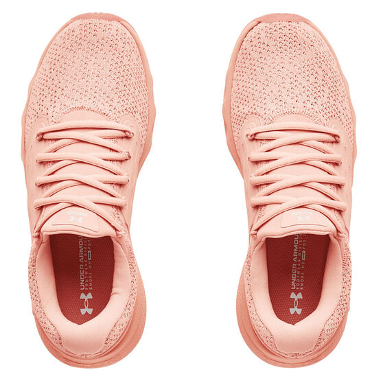 Under Armour Charged Vantage Knit Womens Running Shoes, Pink, rebel_hi-res