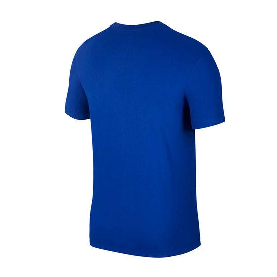 Nike Golden State Warriors Mens Dry Logo Tee, Blue, rebel_hi-res