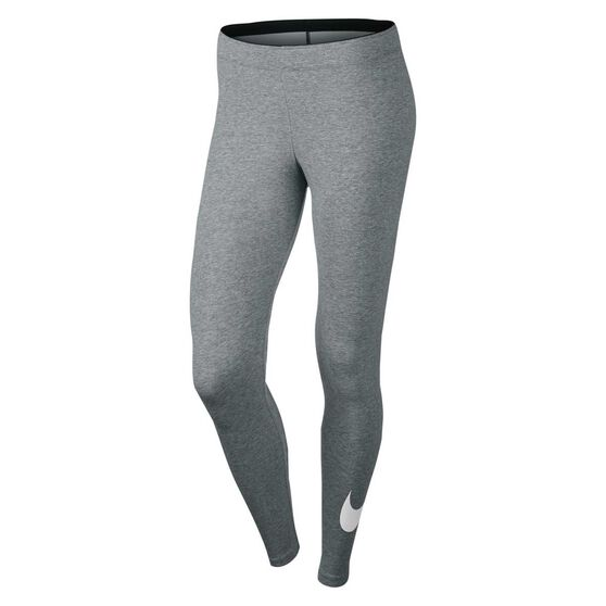 58312fb525dbee Nike Womens Club Logo Leggings Grey / White XS, Grey / White, rebel_hi-