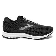 Brooks Revel 2 Mens Running Shoes Black / White US 8, Black / White, rebel_hi-res
