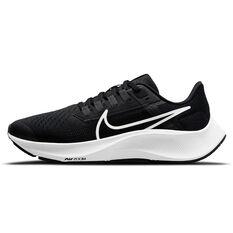 Nike Air Zoom Pegasus 38 Kids Running Shoes Black/White US 1, Black/White, rebel_hi-res