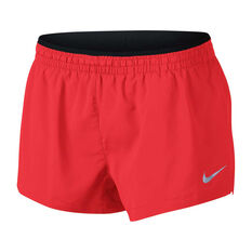 Nike Womens Elevate 3in Running Shorts Red L, Red, rebel_hi-res