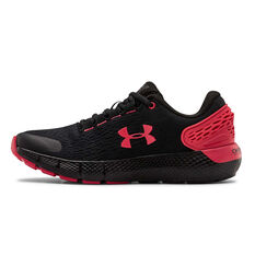 Under Armour Charged Rogue 2 Kids Running Shoes Black/Red US 4, Black/Red, rebel_hi-res