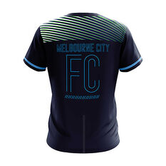 Melbourne City 2018/19 Mens  Geo Squad Training Tee Navy S, Navy, rebel_hi-res