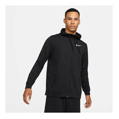 Nike Mens Dri-FIT Full Zip Training Hoodie Black S, Black, rebel_hi-res