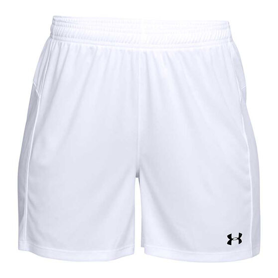 Under Armour Womens Golazo 2.0 Soccer Shorts, White, rebel_hi-res