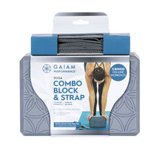 Gaiam Performance Yoga Block and Strap Combo, , rebel_hi-res