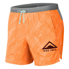 Nike Mens Flex Stride 5in Trail Running Shorts Orange S, Orange, rebel_hi-res