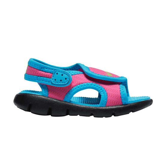 new arrival 0748c 10cb4 Nike Sunray Adjust 4 Toddlers Sandals Pink  Blue US 8, Pink  Blue,