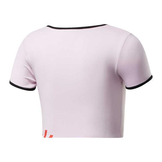 Reebok Womens Meet You There Bralette Tee, Pink, rebel_hi-res