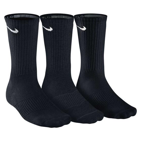 Nike Cushion Cushion Crew 3 Pack Socks, Black, rebel_hi-res