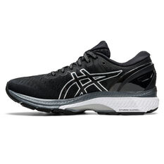 Asics GEL Kayano 27 D Womens Running Shoes Black/Silver US 6, Black/Silver, rebel_hi-res