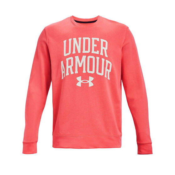 Under Armour Mens Rival Terry Crew, Red, rebel_hi-res