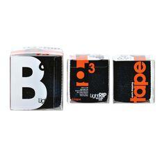 D3 LIGHT RIP Spandex Adhesive Bandage Black, Black, rebel_hi-res