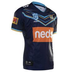 Gold Coast Titans 2019 Mens Home Jersey Navy / Blue S, Navy / Blue, rebel_hi-res
