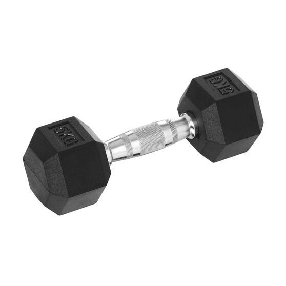 Celsius 5kg Rubber Hex Dumbbell, , rebel_hi-res
