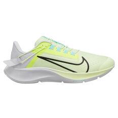 Nike Air Zoom Pegasus 38 FlyEase Womens Running Shoes White/Green US 6, White/Green, rebel_hi-res