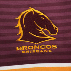 Brisbane Broncos 2020 Kids Away Jersey, Gold / Maroon, rebel_hi-res