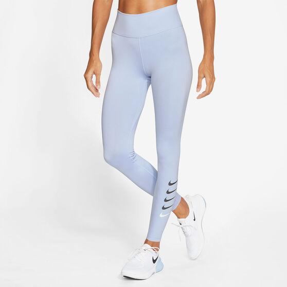 Nike Womens Swoosh Run 7/8 Tights, Blue, rebel_hi-res