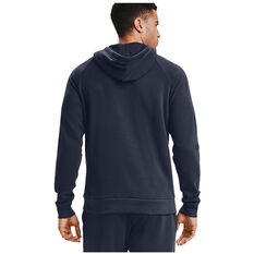 Under Armour Mens Rival Cotton Hoodie, Navy, rebel_hi-res
