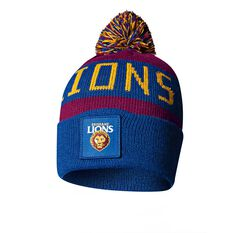 Brisbane Lions Bar Beanie OSFA, , rebel_hi-res