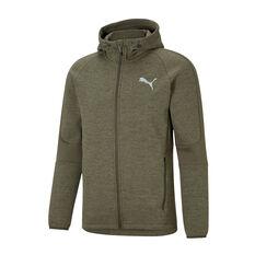 Puma Mens Evostripe Full-Zip Hoodie Green XS, Green, rebel_hi-res