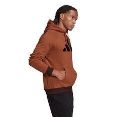 adidas Mens Future Icons Hoodie, Brown, rebel_hi-res