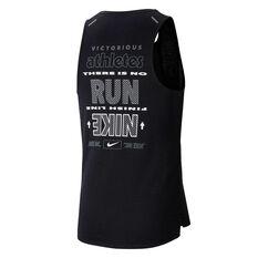 Nike Mens Wild Run Rise 365 Running Tank Black XS, Black, rebel_hi-res