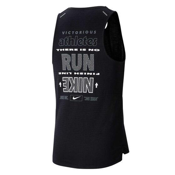 Nike Mens Wild Run Rise 365 Running Tank, Black, rebel_hi-res
