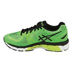 Asics Gel Kayano 23 Boys Running Shoes Green / Black US 3, Green / Black, rebel_hi-res