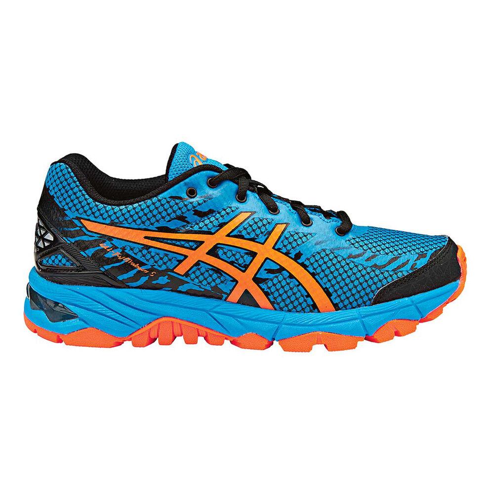 san francisco c9a00 99953 Asics GEL Fuji Trabuco 5 Boys Running Shoes Blue   Orange US 1, Blue