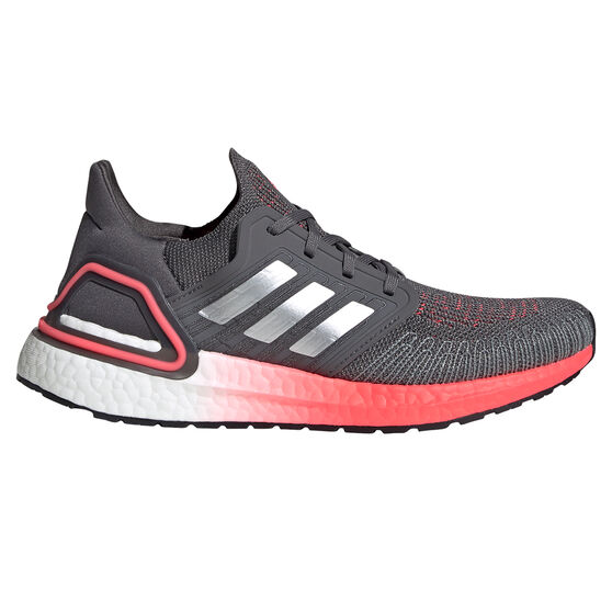 adidas Ultraboost 20 Womens Running Shoes, Grey/Silver, rebel_hi-res