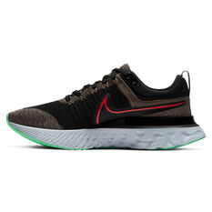 Nike React Infinity Run Flyknit 2 Mens Running Shoes Brown/Red US 7, Brown/Red, rebel_hi-res
