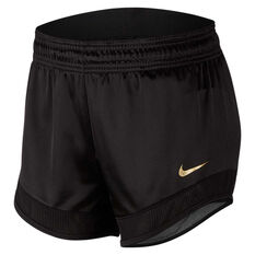 Nike Womens Glam Dunk Running Shorts Black XS, Black, rebel_hi-res