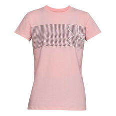 Under Armour Womens Chest Logo Tee Pink XS, Pink, rebel_hi-res