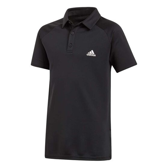 adidas Boys Club Polo, Black / White, rebel_hi-res