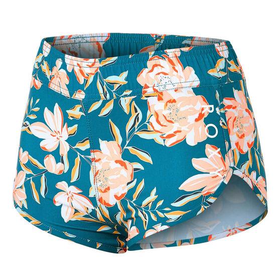 Roxy Girls Chill Sunseeker Board Shorts, Blue, rebel_hi-res