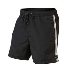 Quiksilver Mens Vibes Volley 17in Boardshorts Black S, Black, rebel_hi-res