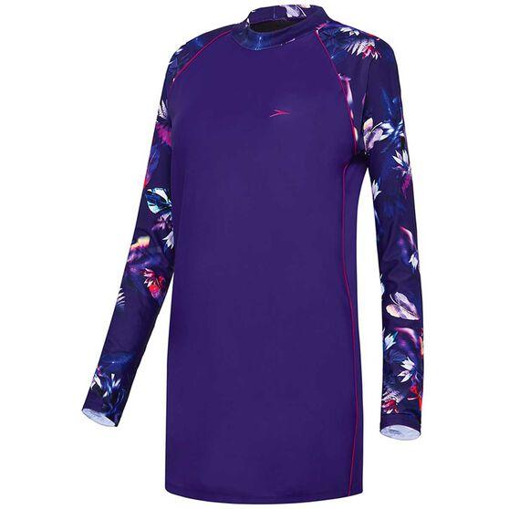 Speedo Womens Swim Tunic Purple 8, Purple, rebel_hi-res