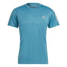 adidas Mens Own The Run Tee Blue S, Blue, rebel_hi-res
