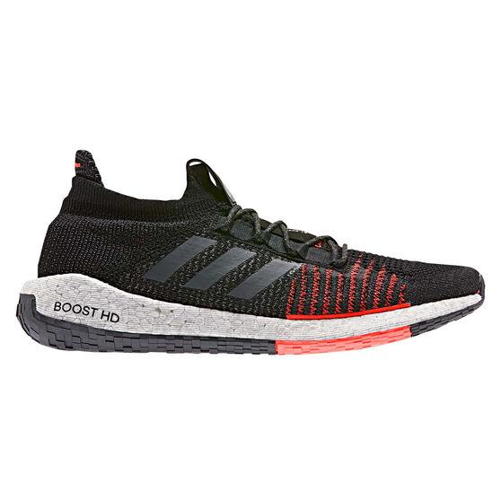 adidas Pulseboost HD Mens Running Shoes, Black / Red, rebel_hi-res