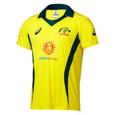 Cricket Australia 2018/19 Mens ODI Home Shirt Yellow S, Yellow, rebel_hi-res