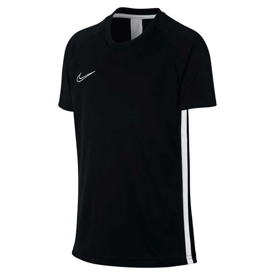 Nike Boys Dry Academy Football Top, Black / White, rebel_hi-res