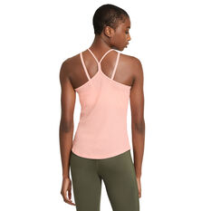Nike Womens Yoga Pointelle Tank Orange XS, Orange, rebel_hi-res