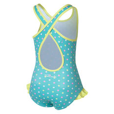 Tahwalhi Girls Flamingo Dance One Piece Swimsuit Aqua 3, Aqua, rebel_hi-res