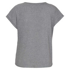 Under Armour Womens Sportstyle Graphic Tee Grey XS, Grey, rebel_hi-res