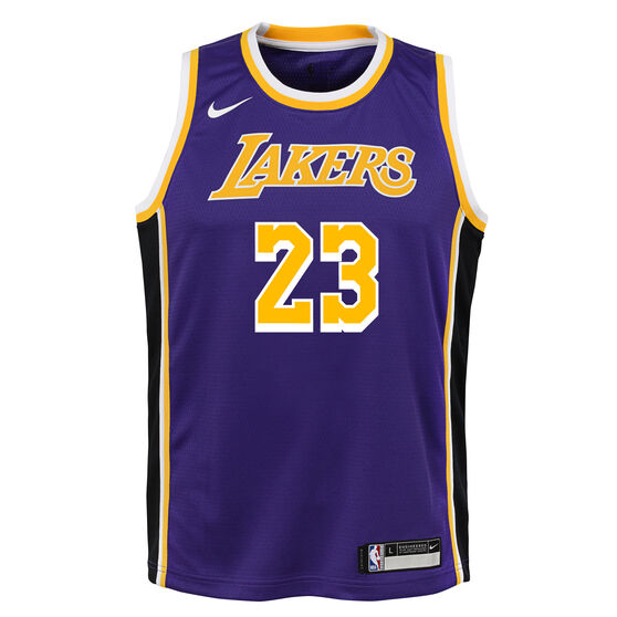 hot sale online ff37a 2dd46 Nike Los Angeles Lakers LeBron James Statement 2019 Kids ...