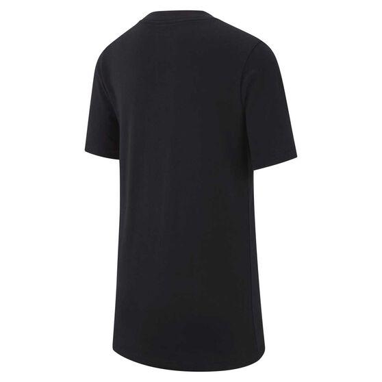 Nike Boys Futura Tee, Black / White, rebel_hi-res